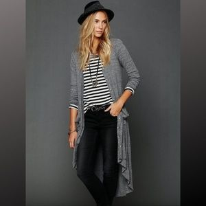 Free People Beach Ribbed Up Maxi Cardigan Duster